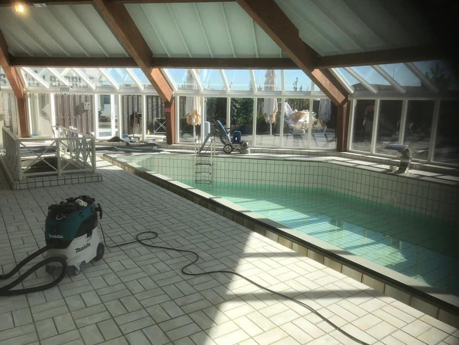 Preparatie zwembadvloer