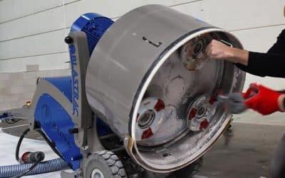 De innovatieve vloerbehandeling apparatuur van Blastrac